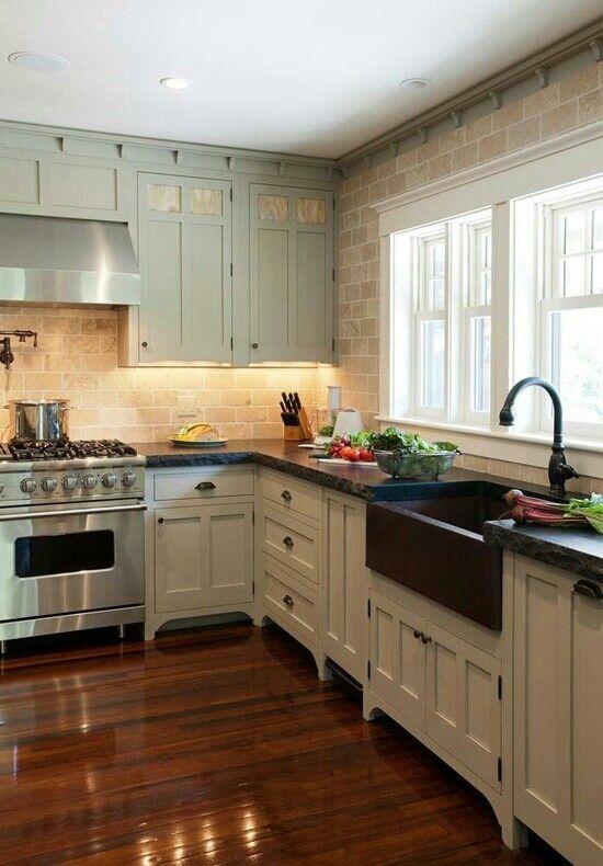 Comfortable Functionality Farm House Kitchen
